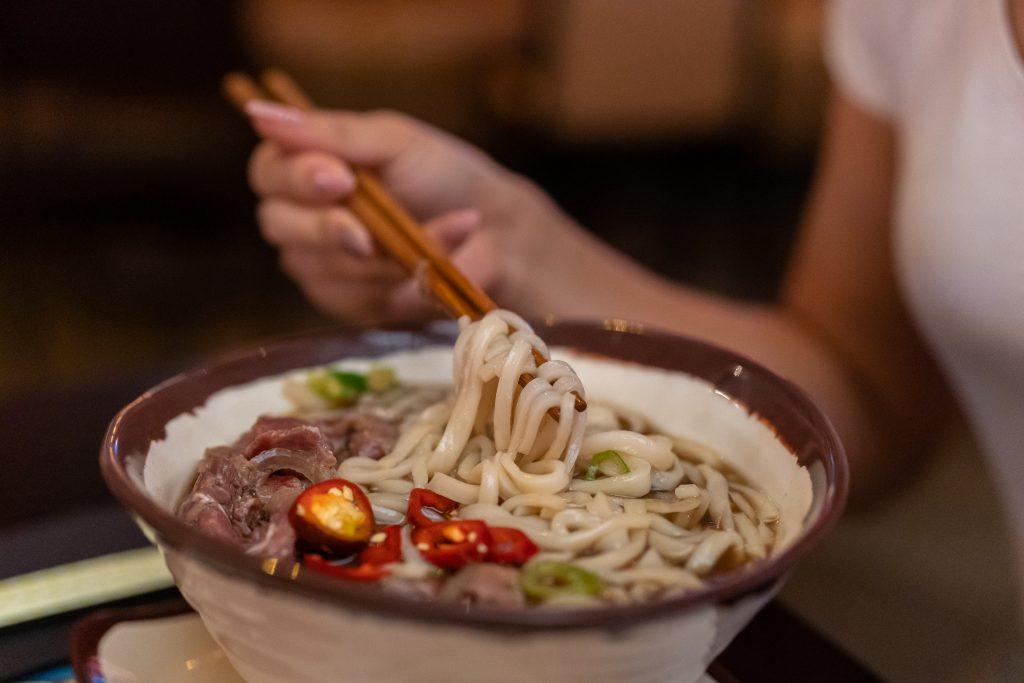 Pho soup noodle