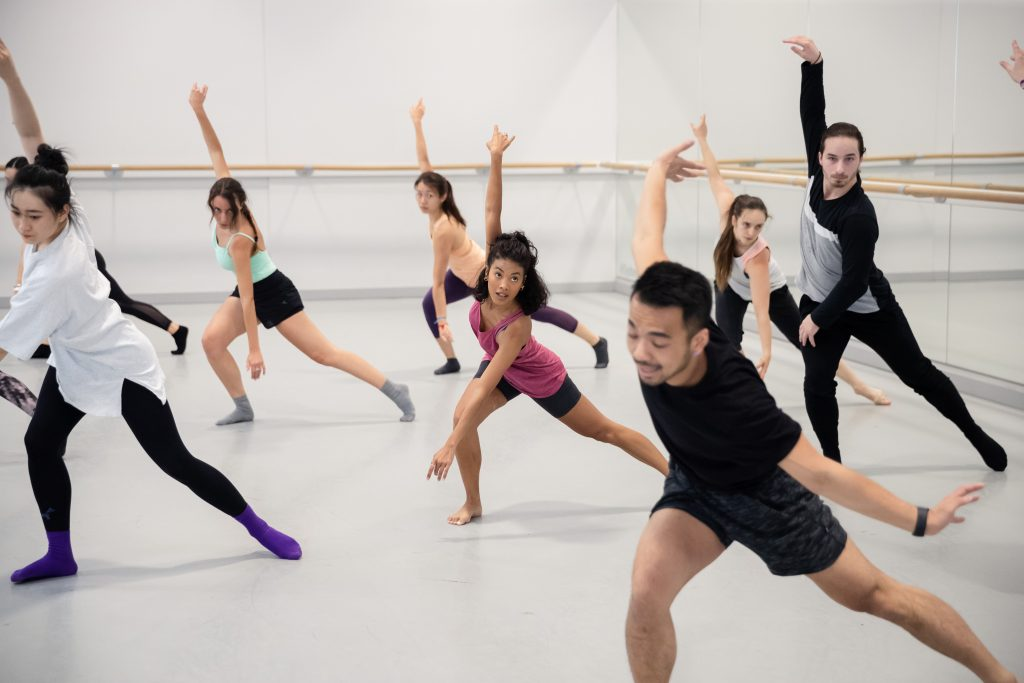 Dance class at Sydney Dance Company