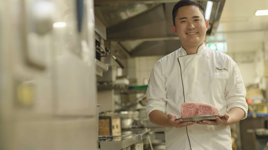 Chef Winson Law in Kiyomi kitchen