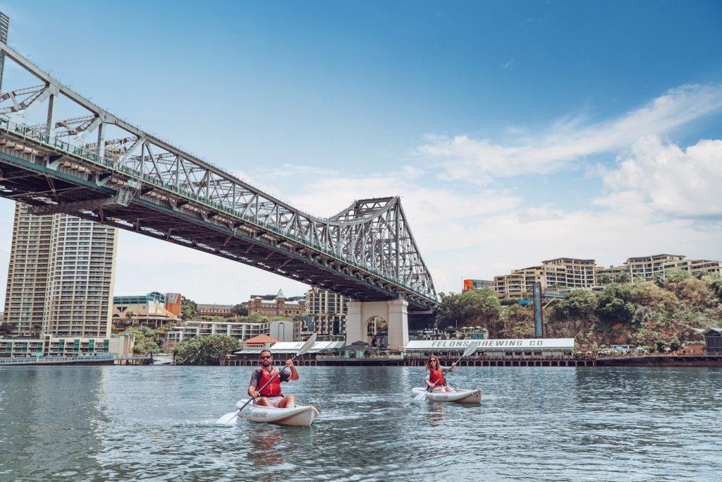 Kayaking on the Brisbane River