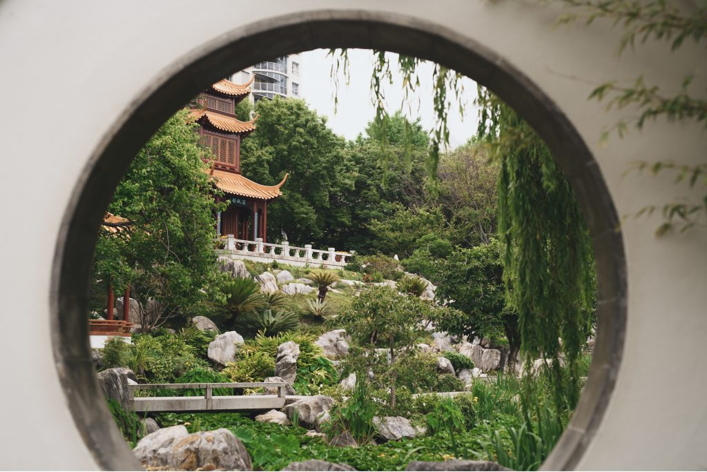 The peaceful and scenic grounds of the Chinese Garden of Friendship in Chinatown, Darling Harbour.