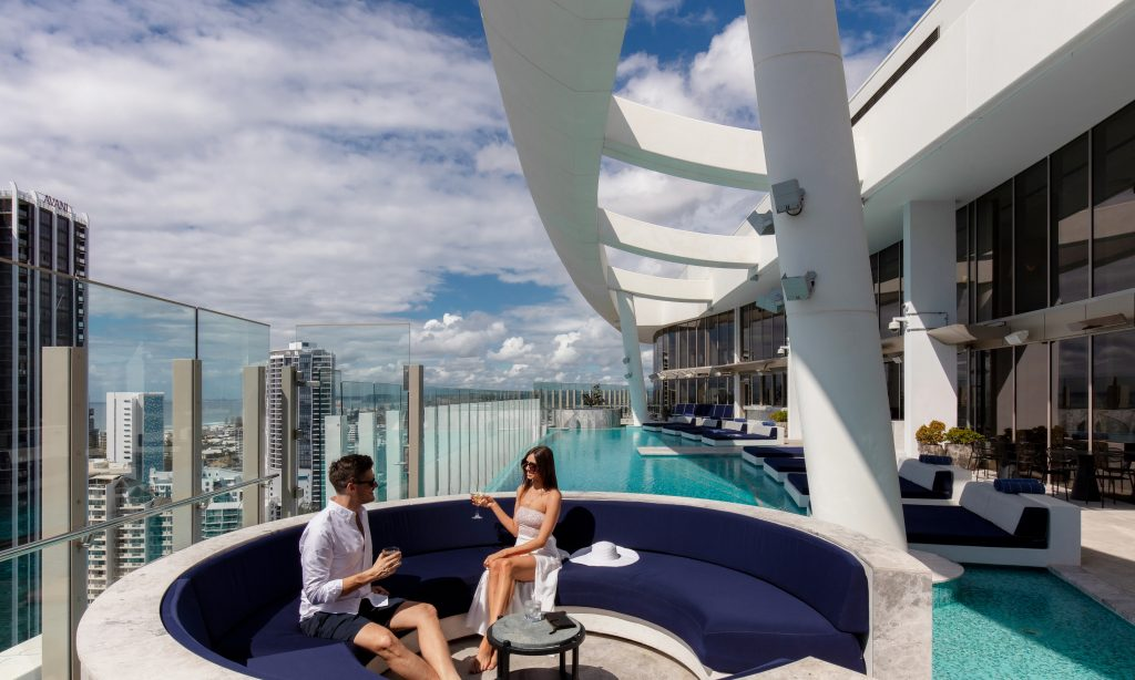 The rooftop pool at Nineteen at The Star