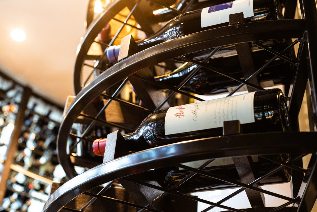 Wine Rack at BLACK Bar