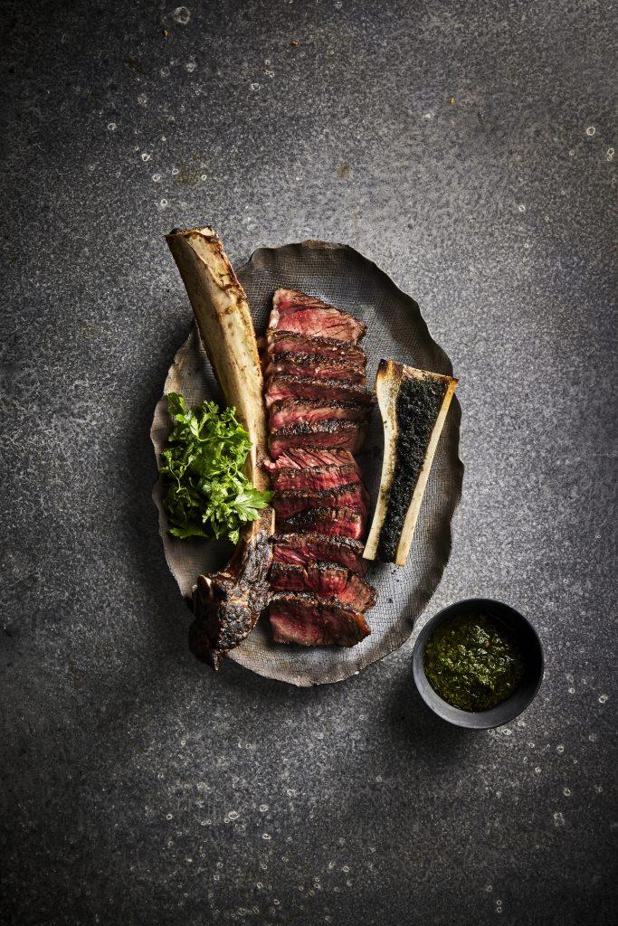 Wagyu Tomahawk steak at BLACK Bar & Grill