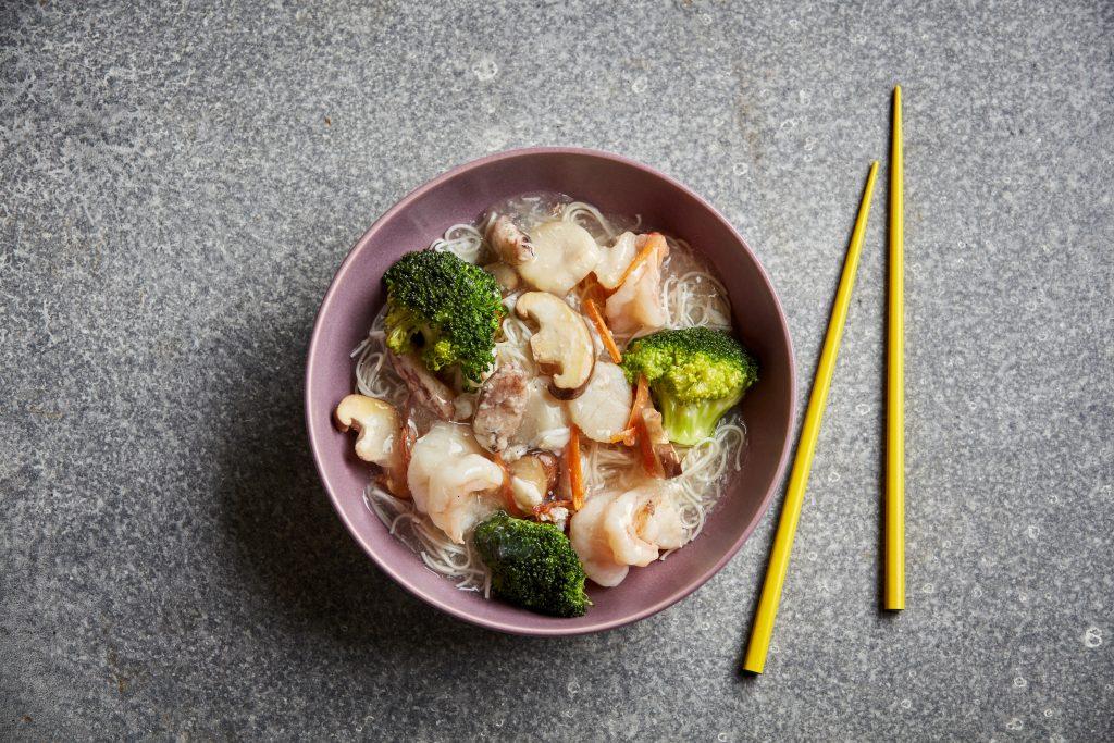 Seafood Longevity Noodles at Fat Noodle