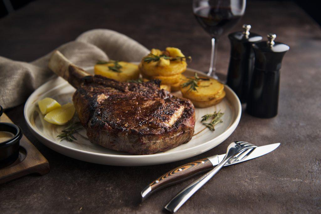 Steak at Black Hide by Gambaro