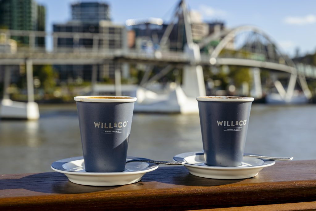 Morning coffee at Will & Flow