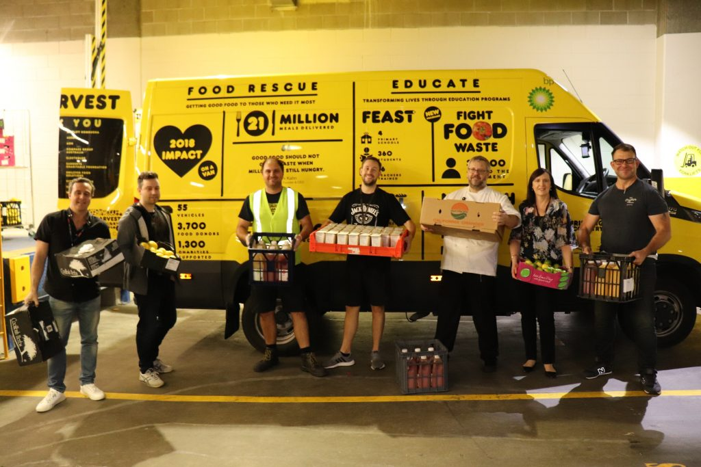 Oz Harvest loading up donations from The Star
