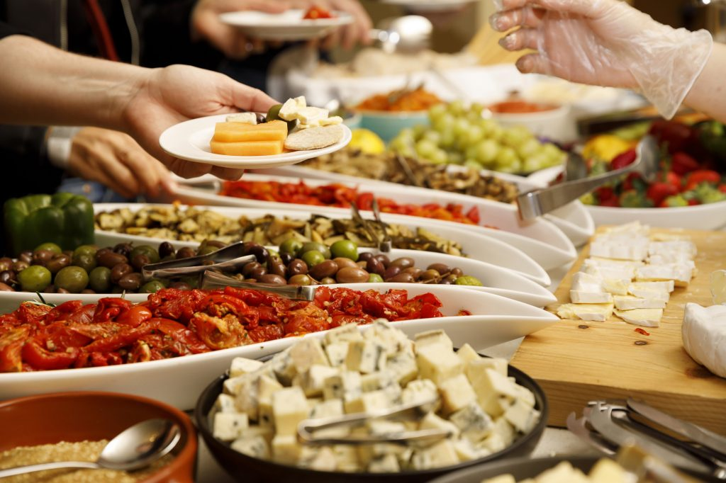 Cheese and Antipasti spread